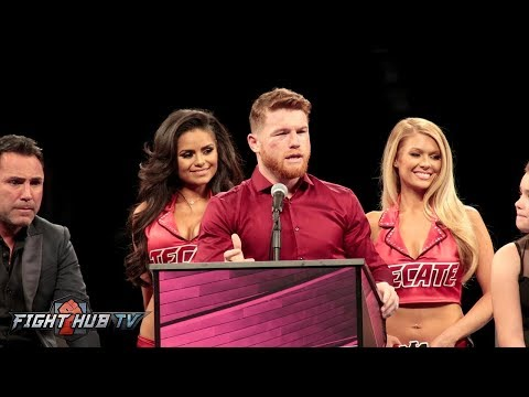 CANELO ALVAREZ'S FULL POST FIGHT PRESS CONFERENCE VIDEO- CANELO VS GOLOVKIN