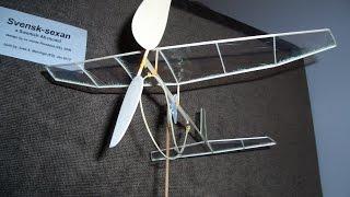 A6 Class Rubber Powered Plane