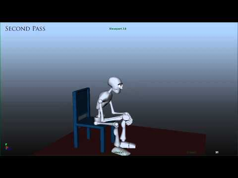 Sit and stand animation wip youtube for Animation stand