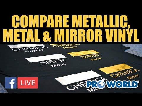 Comparing Metallic, Metal & Mirror Vinyl (Facebook Live 7/13/18)