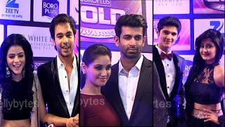 Top 3 ONSCREEN COUPLe- Bihan-Thapki, Shravan Suman and Rohan and Kanchi at Gold Awards