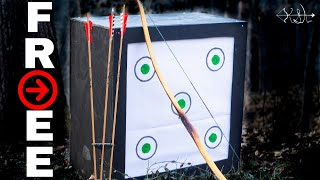 Gambar cover DIY HOMEMADE ARCHERY TARGET FROM SCRAP MATERIALS!