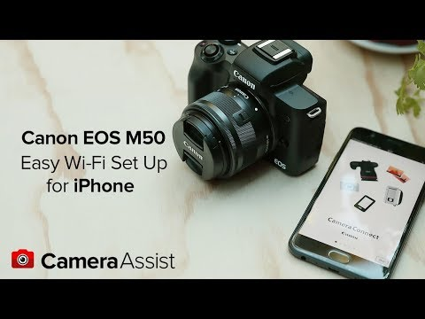 Connect your Canon EOS M50 to your iPhone via Wi-Fi