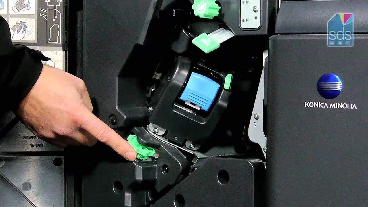 Re-loading The Standard Stapler Konica Minolta Printer