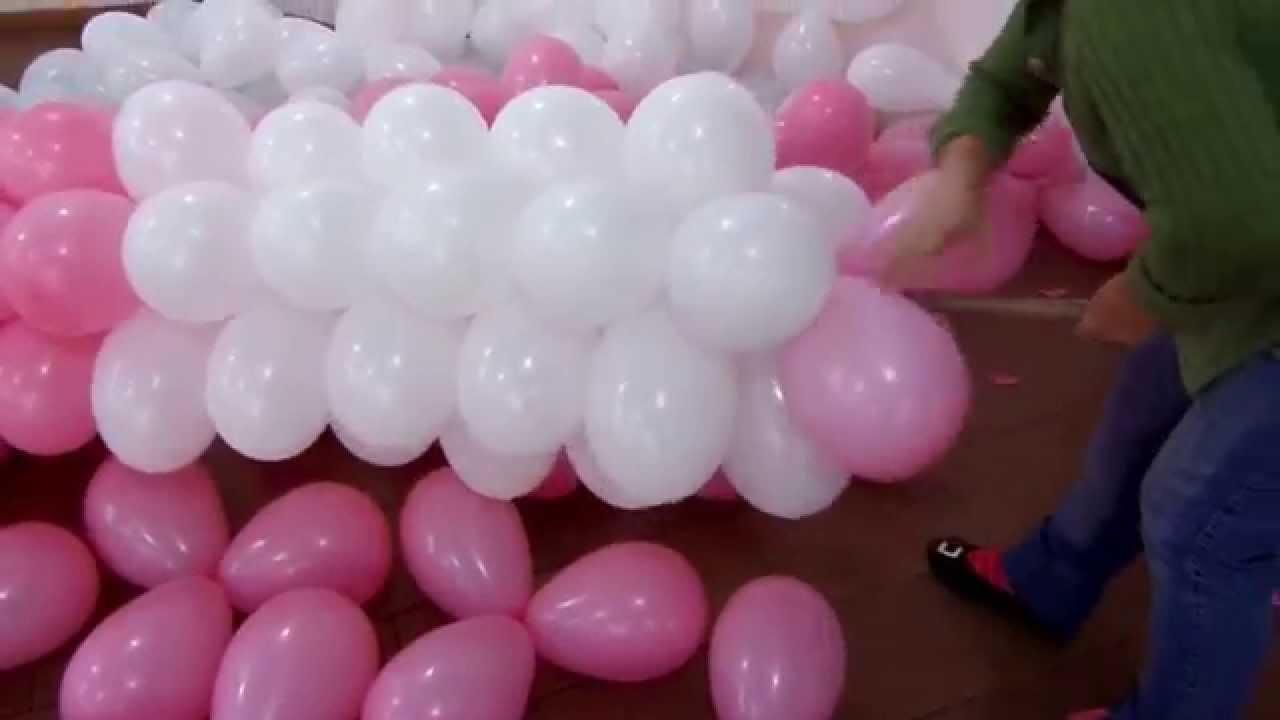 fazendo arco de bal u00e3o em cano de PVC de 2 5mm 6 m Fácil rápido e pratico (Suzy festa decoraç u00e3o  -> Decoração Com Balões Como Fazer Passo A Passo