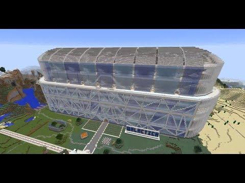 Minecraft - Real-life 80,000-people football stadium!! :) (Galactica Stadium)
