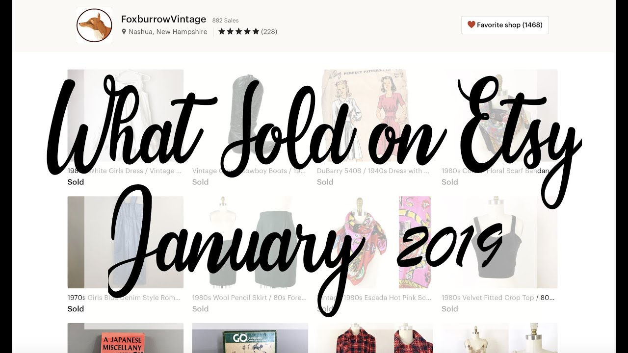 What Sold on Etsy January 2019 / Vintage Sales on Etsy / Reseller