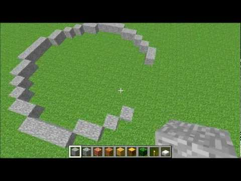 minecraft how to build a circle