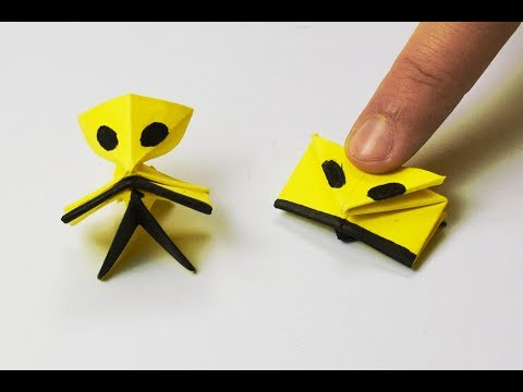 How to make a paper Alien? (Jumping)