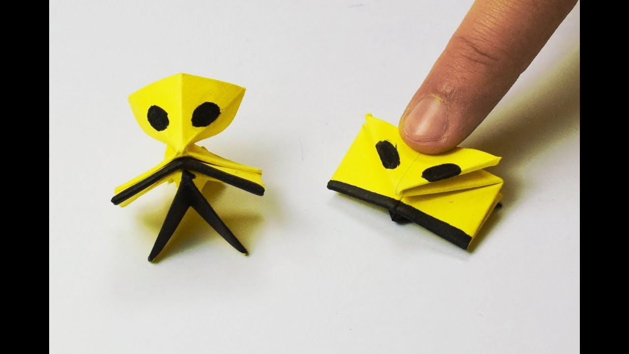 How to make a paper alien jumping youtube how to make a paper alien jumping jeuxipadfo Images