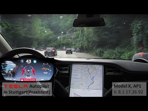 Tesla Autopilot nach Stuttgart - Praxistest (Model X, AP1 mit V. 8.1 17.26.92) | OHNE Orange!