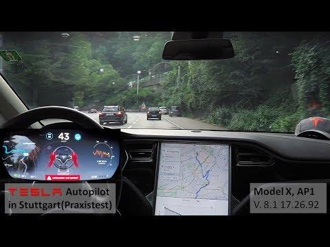 Tesla Autopilot nach Stuttgart - Praxistest (Model X, AP1 mit V. 8.1 17.26.92)