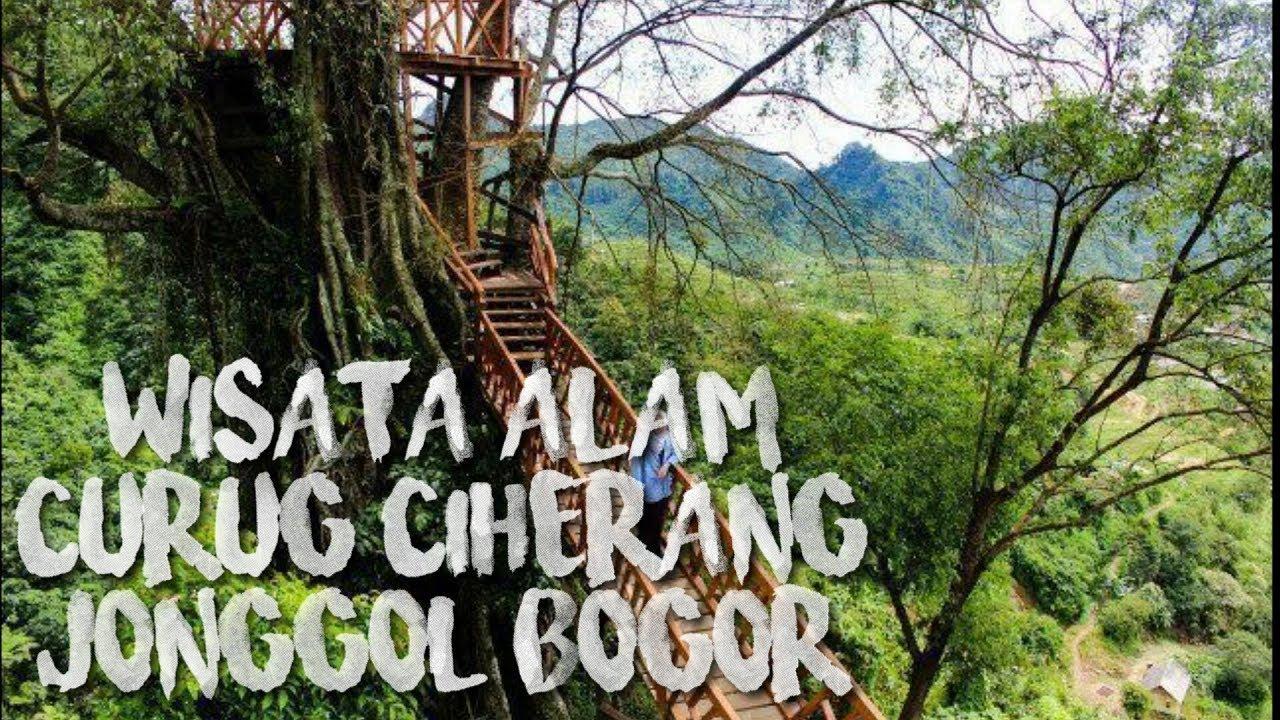 Wisata Alam Dan Kolam Renang Curug Ciherang Jonggol Bogor Jawa Barat