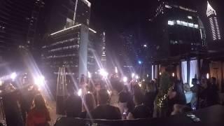 NYE 2017 Luna Sky Bar Countdown Fireworks Burj Khalifa at Four Seasons DIFC Dubai GoPro