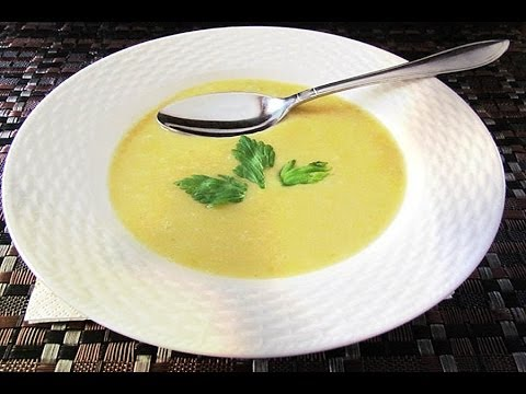 CREAM OF CELERY SOUP with Lobster or Crab /professional restaurant recipe