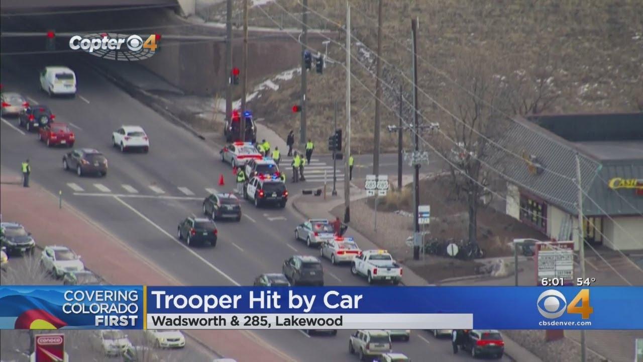 State Trooper Hit During Crash Investigation
