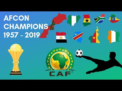 Africa Cup of Nations Winners (AFCON) 1957 - 2019