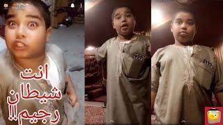 زعلان من خاله عشان ما يبي ياخذه محل الحلا 😂
