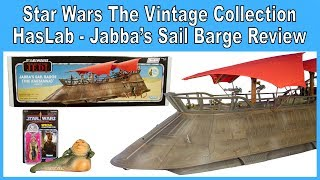 Star Wars The Vintage Collection Jabba's Sail Barge Review (Reupload)