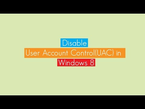 Disable or Enable User Account Control (UAC) in Windows 7/Windows 8/Windows 8.1