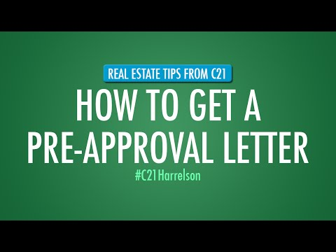 How To Get A Pre-Approval Letter