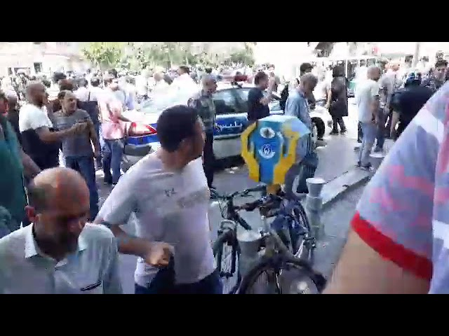 TEHRAN, Iran, June 26, 2018  The anti riot guard attacked the protesters