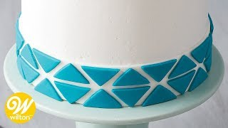 How to Overlay Fondant Using Cut-Outs | Wilton