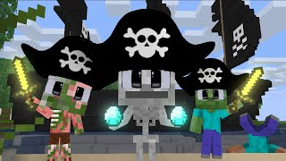 MONSTER SCHOOL : PIRATE TREASURE HUNT CHALLENGE WITH BABY MONSTER - FUNNY ANIMATION