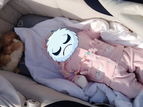 Рождение новой крохи. Новая кукла Реборн. Прогулка в коляске.