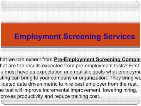 Pre Employment Testing Companies