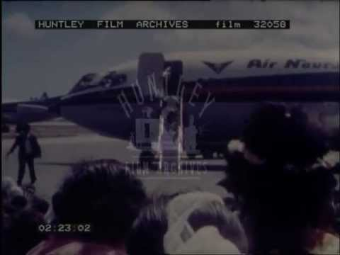 Air Nauru Airlines and Chief Detudamo.  Film 32058