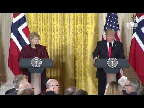 President Trump Holds a Joint Press Conference with Prime Minister Solberg