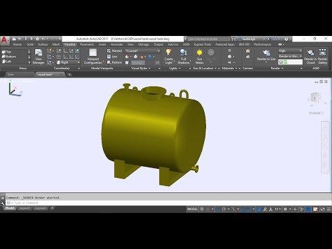 Auto Cad Tutorial 3D Vessel Tank #1
