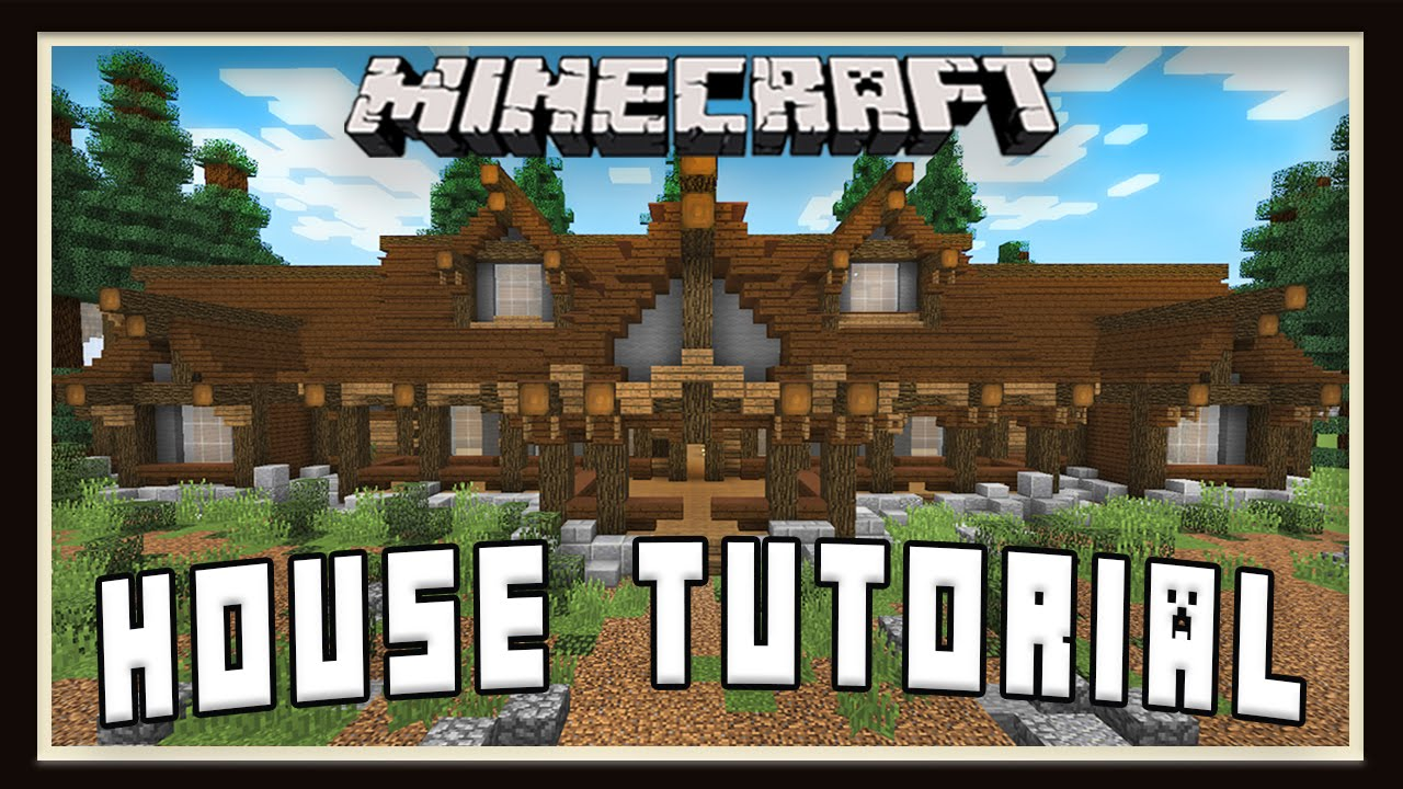 minecraft tutorial how to build a house layout design part 1 youtube