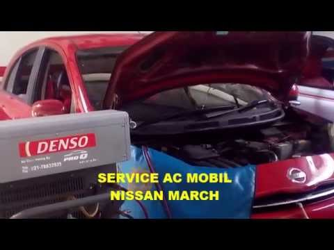 Service Ac Mobil Nissan March Youtube