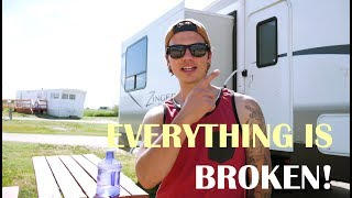 Full Time RVing First 30 Days   Dark Side of Living in a 5th Wheel