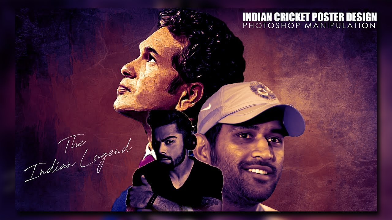 Poster design tutorial - India Pakistan Match Highlights 2017 India Cricket Team Poster Design In Photoshop Tutorial 2017