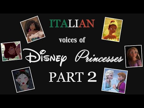 Italian Voices of Disney Princesses