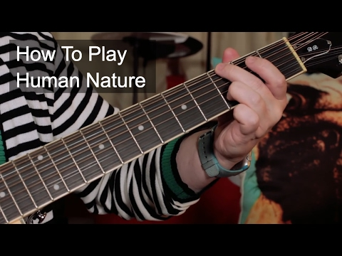 How to Play: 'Human Nature' Michael Jackson Acoustic Guitar Lesson