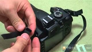 Nikon d3200 카메라 끈 매기