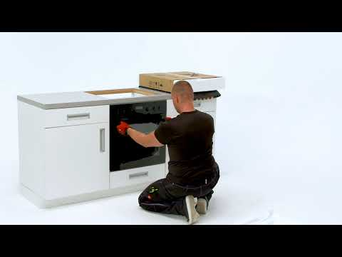 How to install your Electrolux Oven with Hob - Built Under installation