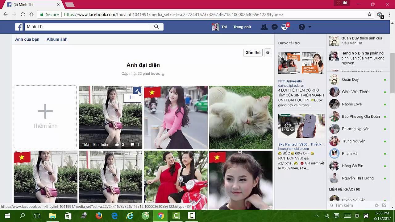 Cách thay đổi ảnh đại diện, ảnh bìa Facebook giữ nguyên số Like, số Comment