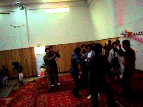 hazara university zoology party boys dance on stage...