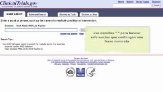Búsqueda básica. Guía de uso de ClinicalTrials.gov