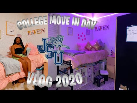 COLLEGE MOVE IN DAY 2020 || Jackson State University!!