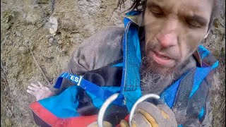 Homeless Man Rescued After Three Days Stuck on Mountainside Ledge 100' Over River
