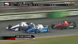 Fernando Alonso call during the 2017 Rainguard Water Sealers 600
