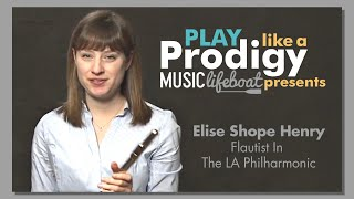 Learn From A Master Flute 5 Lesson Holding the Flute With Musician Elise Shope Henry