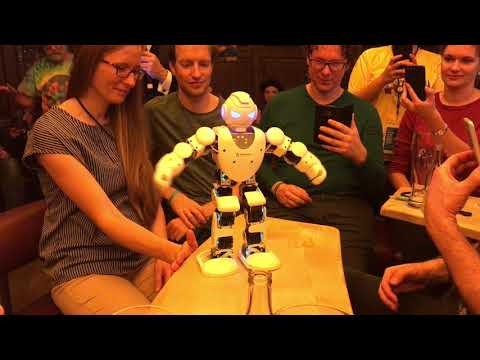 Causic the robot dancing at Agile Testing Days 2017