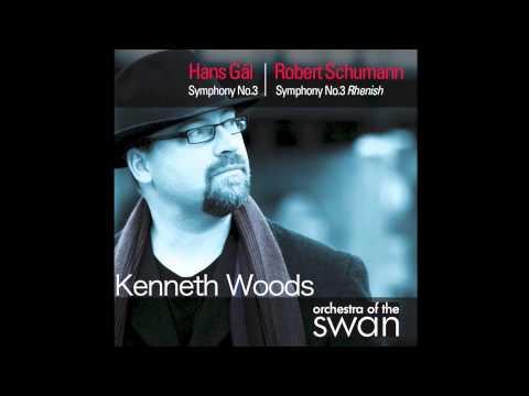 """Robert Schumann- Symphony no. 3, Mvt IV """"Feierlich, Kenneth Woods, Orchestra of the Swan"""